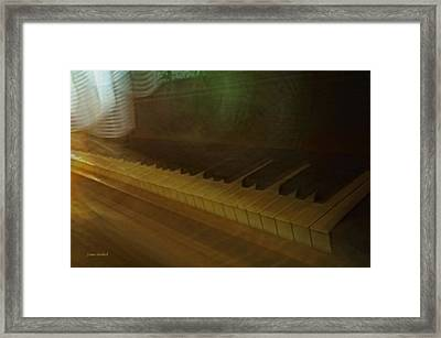 The Old Piano Framed Print by Donna Blackhall