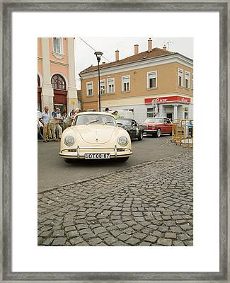 The Old Porshe Framed Print by Odon Czintos
