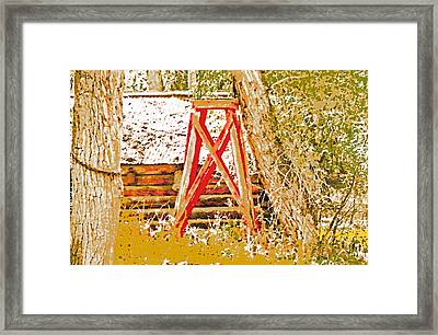 The Old Ranch Tower Framed Print by Lenore Senior and Dawn Senior-Trask