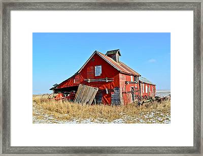 The Old Red Barn Framed Print by Brenda Becker