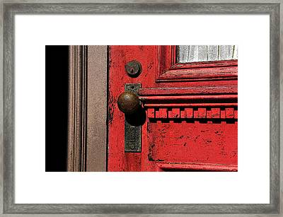 The Old Red Door Framed Print by David Lee Thompson