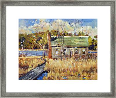 The Old Relic - Plein Air Framed Print by David Lloyd Glover