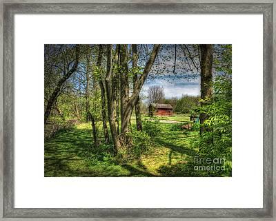 The Old River Shed Framed Print by Pamela Baker
