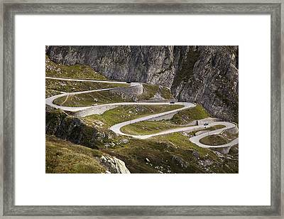 The Old Road To Gotthard Pass Framed Print by Buena Vista Images
