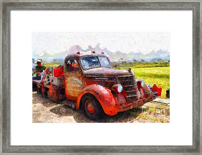 The Old Rusty Jalopy . 7d15500 Framed Print by Wingsdomain Art and Photography