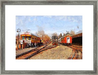 The Old Sacramento Central Train Depot . 7d11513 Framed Print by Wingsdomain Art and Photography