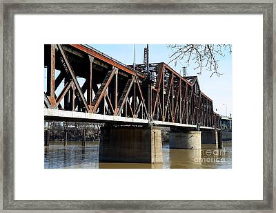 The Old Sacramento Southern Pacific Train Bridge . 7d11427 Framed Print by Wingsdomain Art and Photography