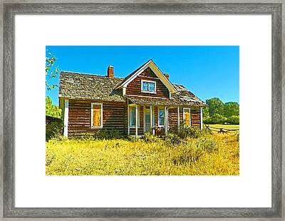 The Old School House Framed Print by Lenore Senior and Dawn Senior-Trask