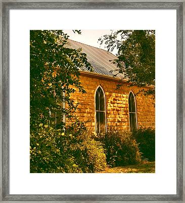 The Old Stone Church Framed Print by Lynne and Don Wright