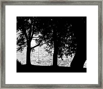 Framed Print featuring the photograph The Old Swing by Mike Flynn