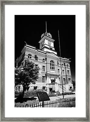 The Old Town Hall Hotel De Ville French Quarter Winnipeg Manitoba Canada Framed Print