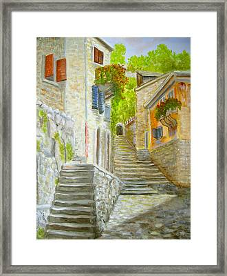 The Old Town Framed Print