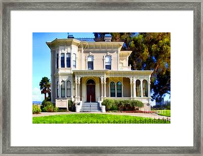 The Old Victorian Camron-stanford House In Oakland California . 7d13440 Framed Print by Wingsdomain Art and Photography
