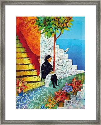 The Old Woman And The Sea Framed Print by Kate Krivoshey
