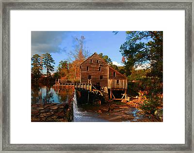 The Old Yates Mill Framed Print by Sheila Kay McIntyre