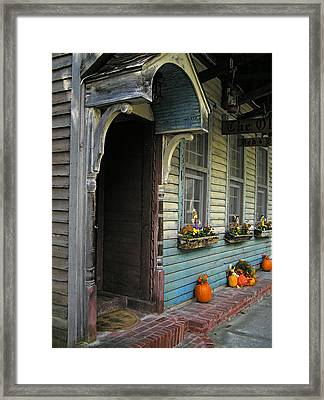 Framed Print featuring the photograph The Olde B And B by Judy  Johnson