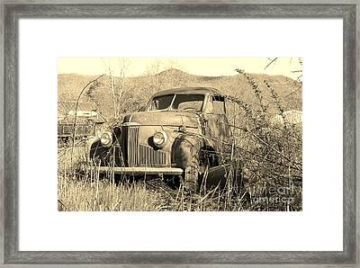 Framed Print featuring the photograph The Ole Studebaker by Laurinda Bowling