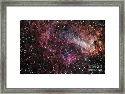 The Omega Nebula Framed Print