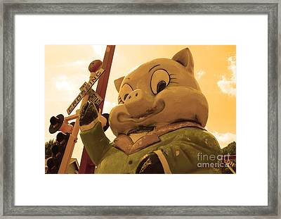 The Ominous Pig Framed Print by Lee Dos Santos