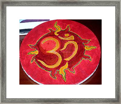Framed Print featuring the painting The Omnipotent Aumkar by Sonali Gangane