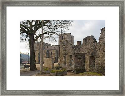 The Once Grand Town Of Oradour Framed Print by Georgia Fowler