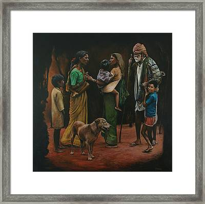 The Onlooker's Reflection Framed Print