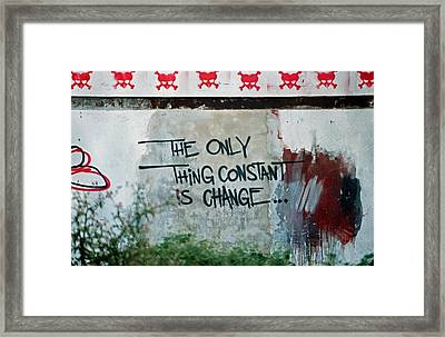 The Only Thing Constant Is Change Framed Print by Arie Klok