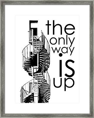 The Only Way Is Up Framed Print by Per Lidvall