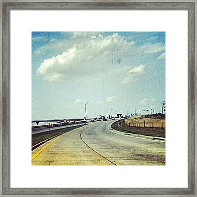 The Open Road #notraffic #random #hdr Framed Print by Kel Hill