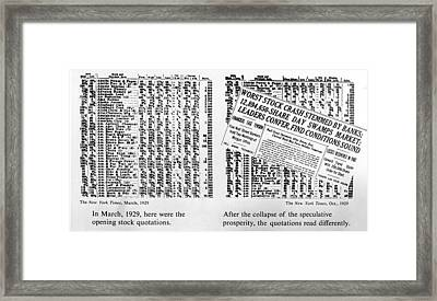 The Opening Stock Quotations Framed Print
