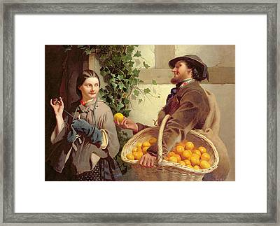 The Orange Seller  Framed Print by William Edward Millner
