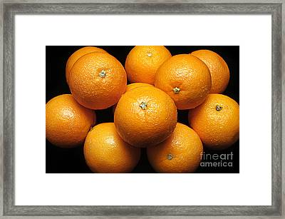 The Oranges Framed Print by Andee Design