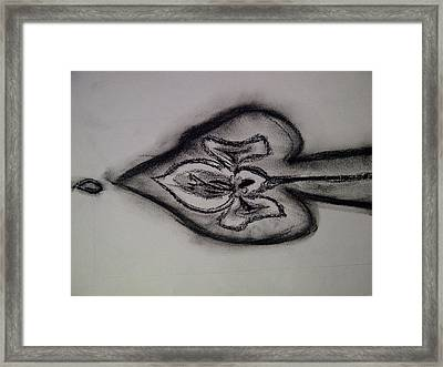 The Orchid Of Spades Framed Print by Samantha Gilbert