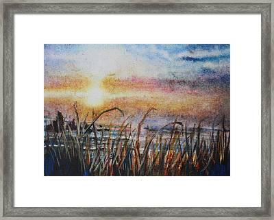 The Oregon Coast At Sunset Framed Print