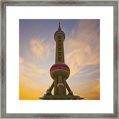 The Oriental Pearl Tv Tower, Shanghai Framed Print
