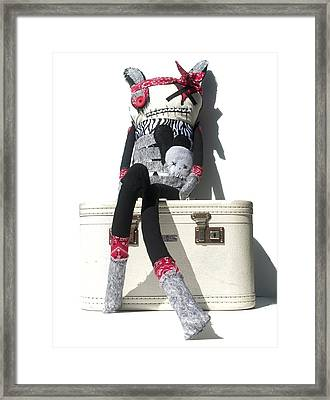 The Original Gangsta Zombie Blunt Force Angelo Framed Print by Oddball Art Co by Lizzy Love