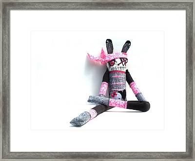 The Original Gangsta Zombie Jenni Rump-thumpin Jamma Framed Print by Oddball Art Co by Lizzy Love