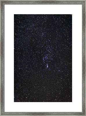 The Orion Constellation Framed Print by Laurent Laveder