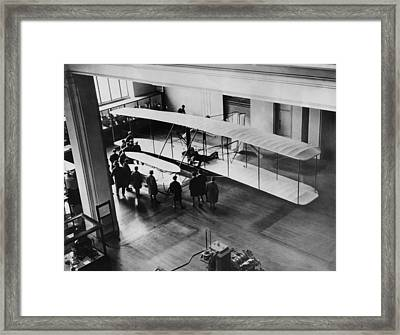 The Orville Wright Plane On Exhibition Framed Print by Everett