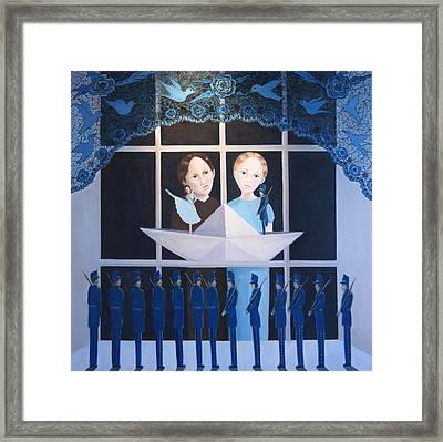 Framed Print featuring the painting The Other Story by Tone Aanderaa