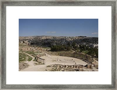 The Oval Plaza Framed Print by Taylor S. Kennedy