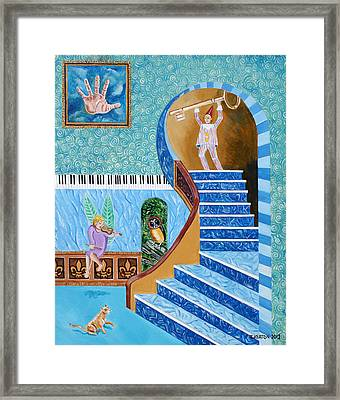 The Owl And The Golden Key Framed Print by John Keaton