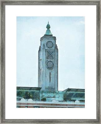 The Oxo Tower On London's South Bank Framed Print by Steve Taylor