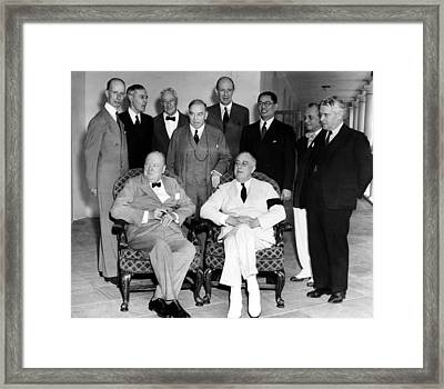The Pacific War Council, Front, L-r Framed Print by Everett