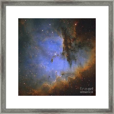 The Pacman Nebula Framed Print by Ken Crawford
