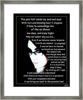 The Pain Inside Framed Print by Michelle Frizzell-Thompson