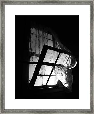 The Pain Of The Look Framed Print by Empty Wall