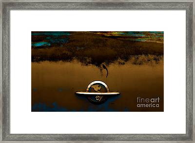The Paint Of Corrosion  Framed Print by Steven  Digman
