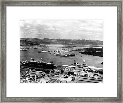 The Panama Canal, Circa 1930s Framed Print by Everett
