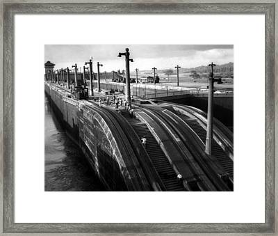 The Panama Canal, Steps Framed Print by Everett
